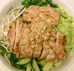 Chicken rice vermicelli bowl