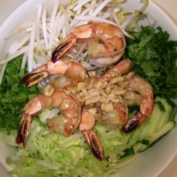 Shrimps rice vermicelli bowl